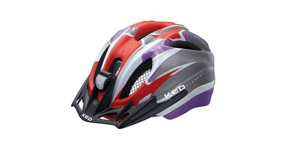 KED Meggy Reflex hjelm Børn grå/violet